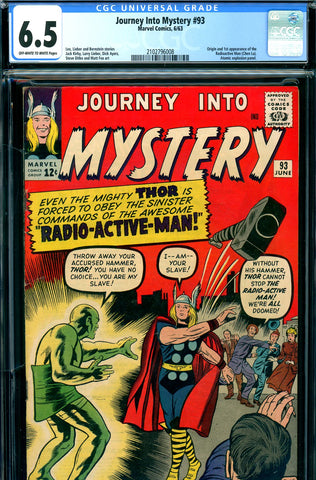 Journey Into Mystery #093 CGC graded 6.5  first Radioactive Man - SOLD!