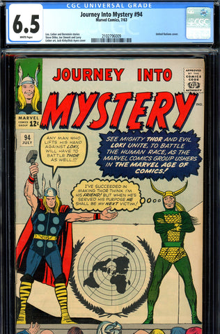 Journey into Mystery #094 CGC graded 6.5  United Nations cover SOLD!