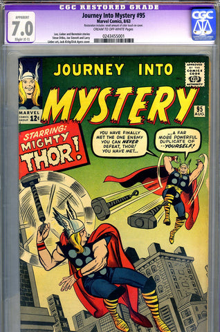 Journey into Mystery #095  CGC graded 7.0 SOLD!
