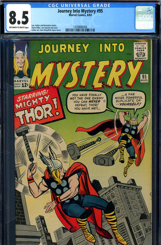 Journey Into Mystery #095 CGC graded 8.5  Thor vs. Thor - SOLD!