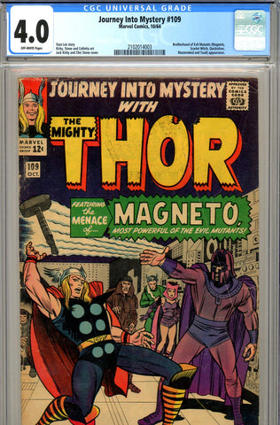 Journey Into Mystery #109 CGC graded 4.0  1st Magneto x-over - SOLD!