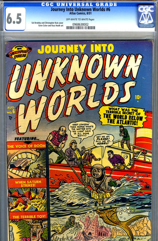 Journey into Unknown Worlds #6   CGC graded 6.5 - SOLD!
