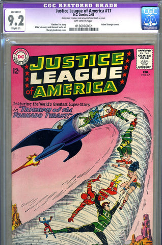 Justice League of America #17  CGC graded 9.2 Strange cameo SOLD!