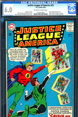 Justice League of America #22 CGC graded 6.0 - second JSA SA appearance