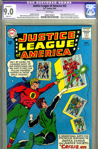Justice League of America #22   CGC graded 9.0 - SOLD