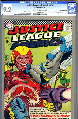 Justice League of America #50   CGC graded 9.2 - RM pedigree - SOLD!