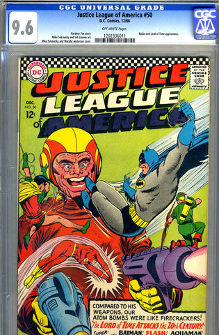 Justice League of America #50   CGC graded 9.6 - SOLD!