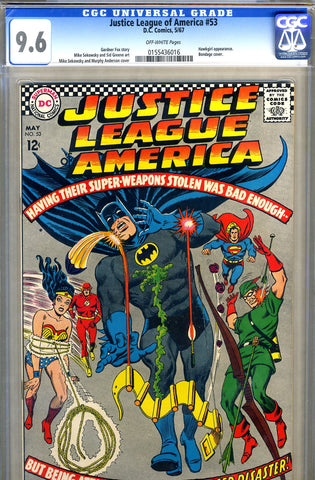Justice League of America #53   CGC graded 9.6 - SOLD