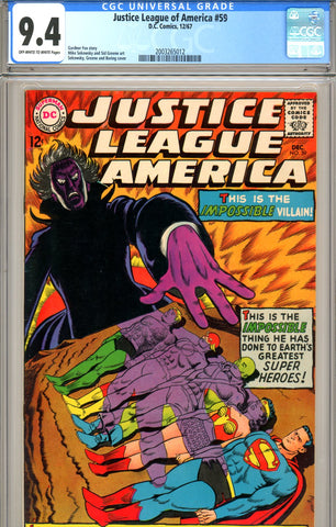 Justice League of America #59 CGC graded 9.4