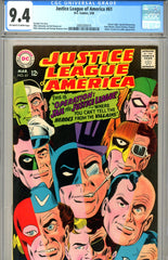 Justice League of America #61 CGC graded 9.4