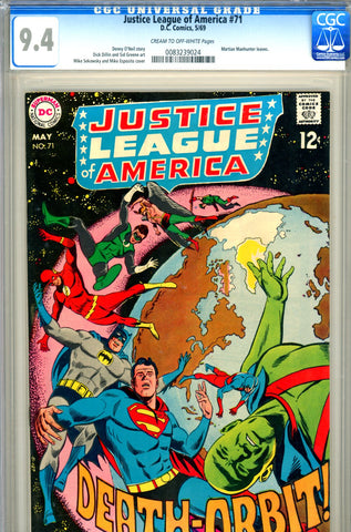 Justice League of America #71 CGC graded 9.4
