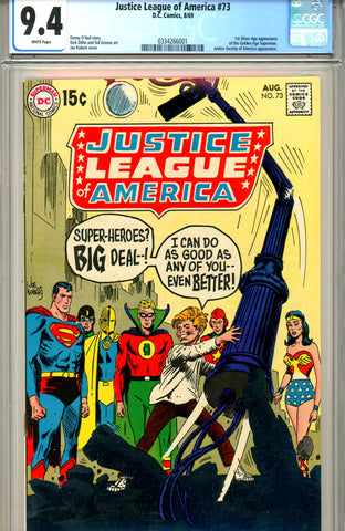 Justice League of America #73 CGC graded 9.4 WP SOLD!