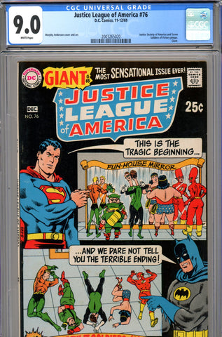 Justice League of America #76 CGC graded 9.0 - Giant