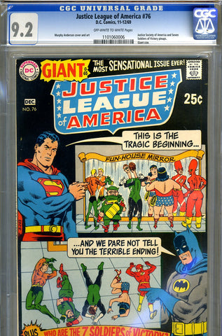 Justice League of America #76   CGC graded 9.2 - Giant - SOLD