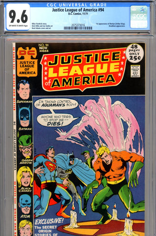 Justice League of America #94 CGC graded 9.6 - first Merlyn  SOLD!