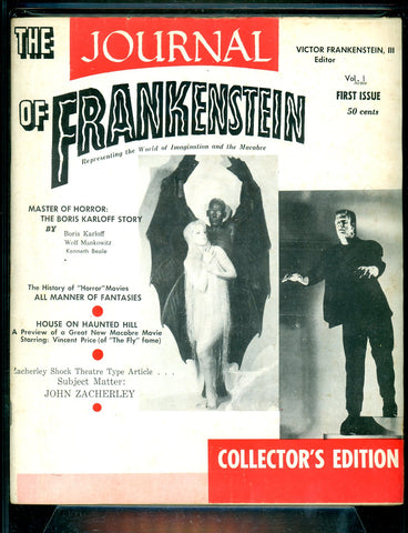 Journal of Frankenstein #1 CGC graded 5.5 - (1959) white pages