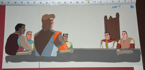 "Original production cel -""King Arthur""- by Golden Films 290 SIZE 21.75"" x 10.50"""
