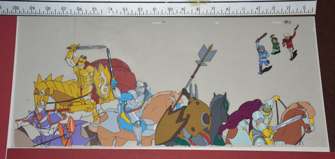"Original production cel -""King Arthur""- by Golden Films 292 SIZE 19.50"" x 9"""