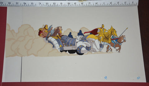 "Original production cel -""King Arthur""- by Golden Films 296 SIZE 18"" x 10.50"""