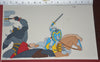 "Original production cel -""King Arthur""- by Golden Films 303 SIZE 15"" x 9"""