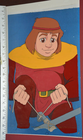 "Original production cel -""King Arthur""- by Golden Films 306 SIZE 17"" x 10.50"""
