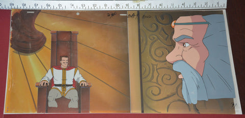 "Original production cel -""King Arthur""- by Golden Films 307 SIZE 18.50"" x 9.50"""