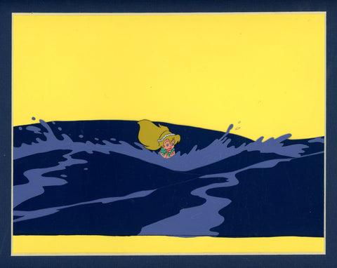"Original production cel -""Little Mermaid""- by Golden Films 080 MATTED"