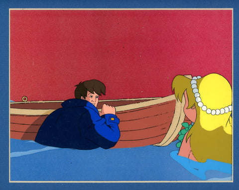 "Original production cel -""Little Mermaid""- by Golden Films 081 MATTED"