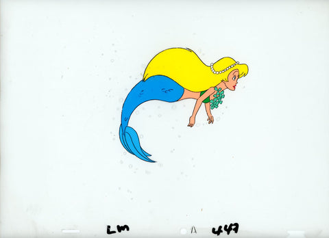 "Original production cel -""Little Mermaid""- by Golden Films 101 LARGE"