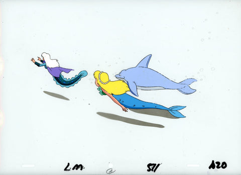 "Original production cel -""Little Mermaid""- by Golden Films 105 LARGE"