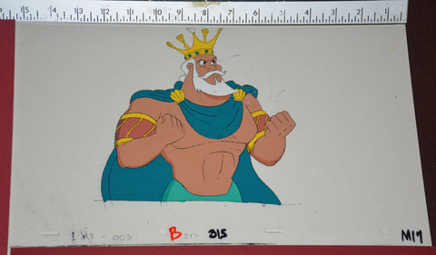 "Original production cel -""Little Mermaid""- by Golden Films 123 SIZE 15"" x 9"""