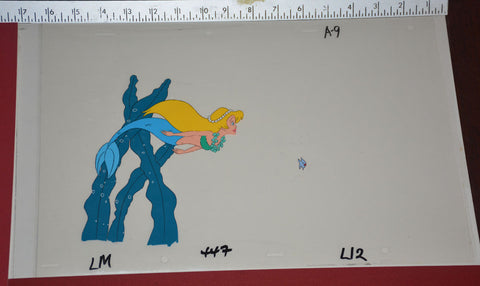 "Original production cel -""Little Mermaid""- by Golden Films 128 SIZE 16.50"" x 10.50"""