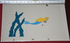 "Original production cel -""Little Mermaid""- by Golden Films 131 SIZE 16"" x 10.50"""