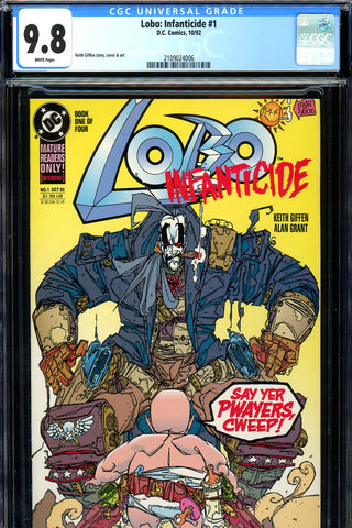 Lobo: Infanticide mini-series #1,2,3,4 ALL CGC graded 9.8