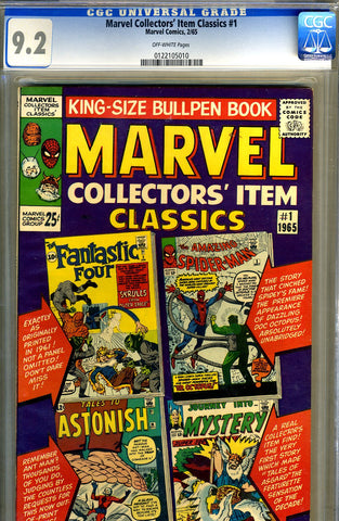 Marvel Collectors' Item Classics #01  CGC graded 9.2 - SOLD!