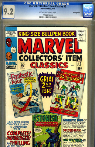 Marvel Collectors' Item Classics #02  CGC graded 9.2 - SOLD