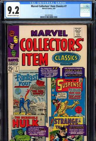 Marvel Collectors' Item Classics #07 CGC graded 9.2 SOLD!