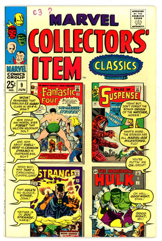 Marvel Collectors' Item Classics #09   VF/NEAR MINT   1967