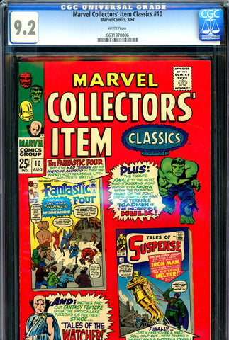 Marvel Collectors' Item Classics #10 CGC 9.2 white pages