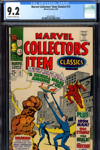 Marvel Collectors' Item Classics #13 CGC graded 9.2