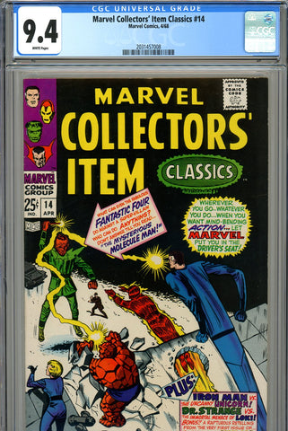 Marvel Collectors' Item Classics #14 CGC graded 9.4 white pages SOLD!