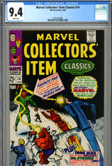 Marvel Collectors' Item Classics #14 CGC graded 9.4 white pages