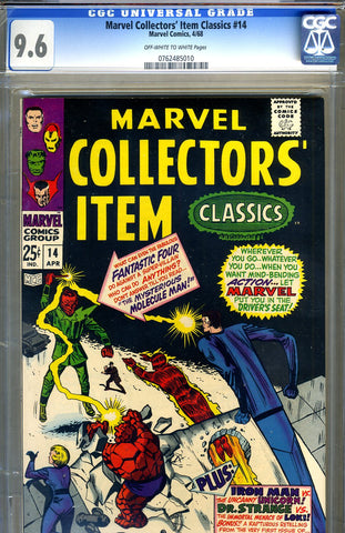 Marvel Collectors' Item Classics #14  CGC graded 9.6 - SOLD