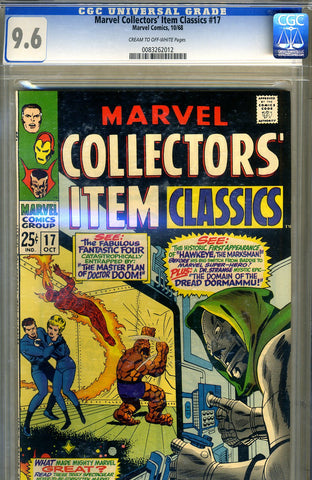 Marvel Collectors' Item Classics #17   CGC graded 9.6 - SOLD