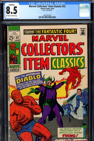 Marvel Collectors' Item Classics #22 CGC graded 8.5 SOLD!