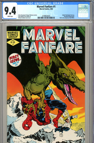 Marvel Fanfare #1 CGC graded 9.4  Spider-Man/Angel team up SOLD!