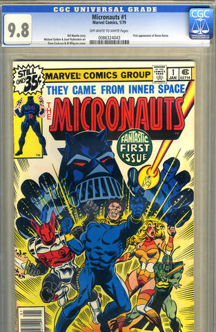 Micronauts #1   CGC graded 9.8 - SOLD