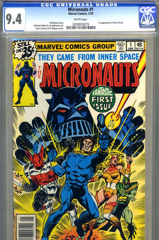 Micronauts #1   CGC graded 9.4 - SOLD