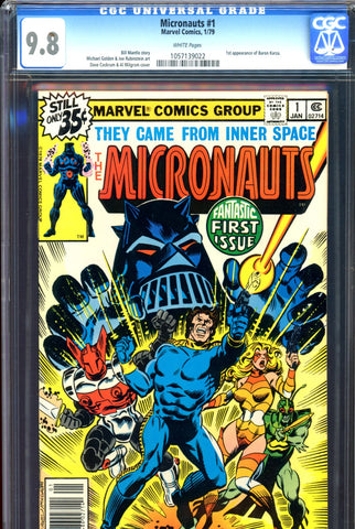 Micronauts #01 CGC graded 9.8 - HIGHEST GRADED SOLD!
