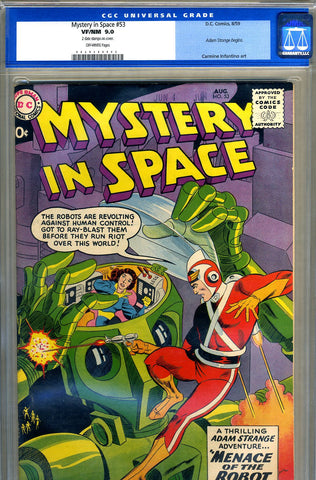 Mystery in Space #53   CGC graded 9.0 - SOLD